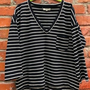 Madewell Black and White Top